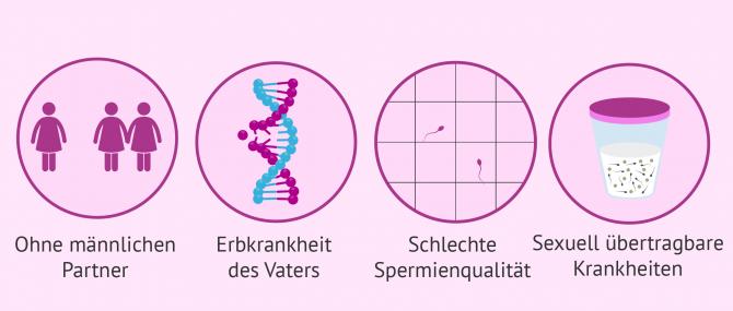Imagen: Indikationen der künstlichen Befruchtung mit Spendersamen