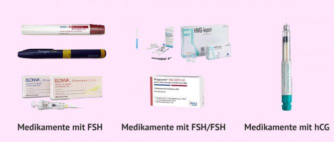 Imagen: Medikamente die Gonadotropin enthalten um die Eierstöcke anzuregen