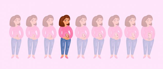 Imagen: Im vierten Monat schwanger