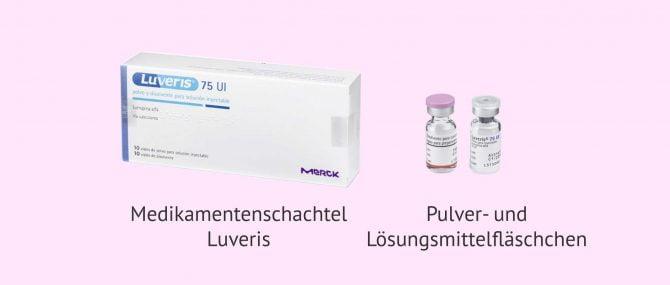 Imagen: Luveris 75 IE als Injektionslösung